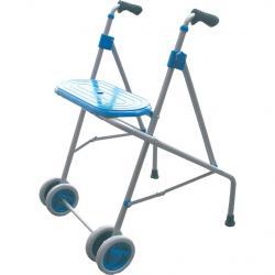 Andador de aluminio con asiento